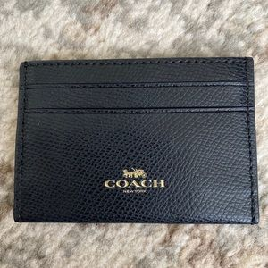 Coach Black Leather Card Case